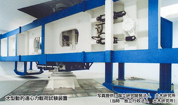 「大型動的遠心力載荷試験装置」
